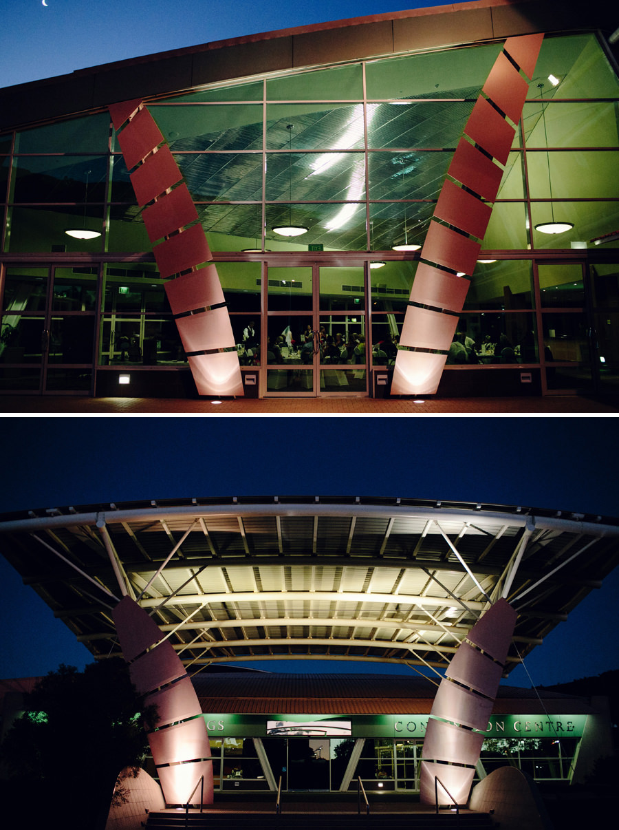 Alice Springs Convention Centre Wedding Photography: Exterior