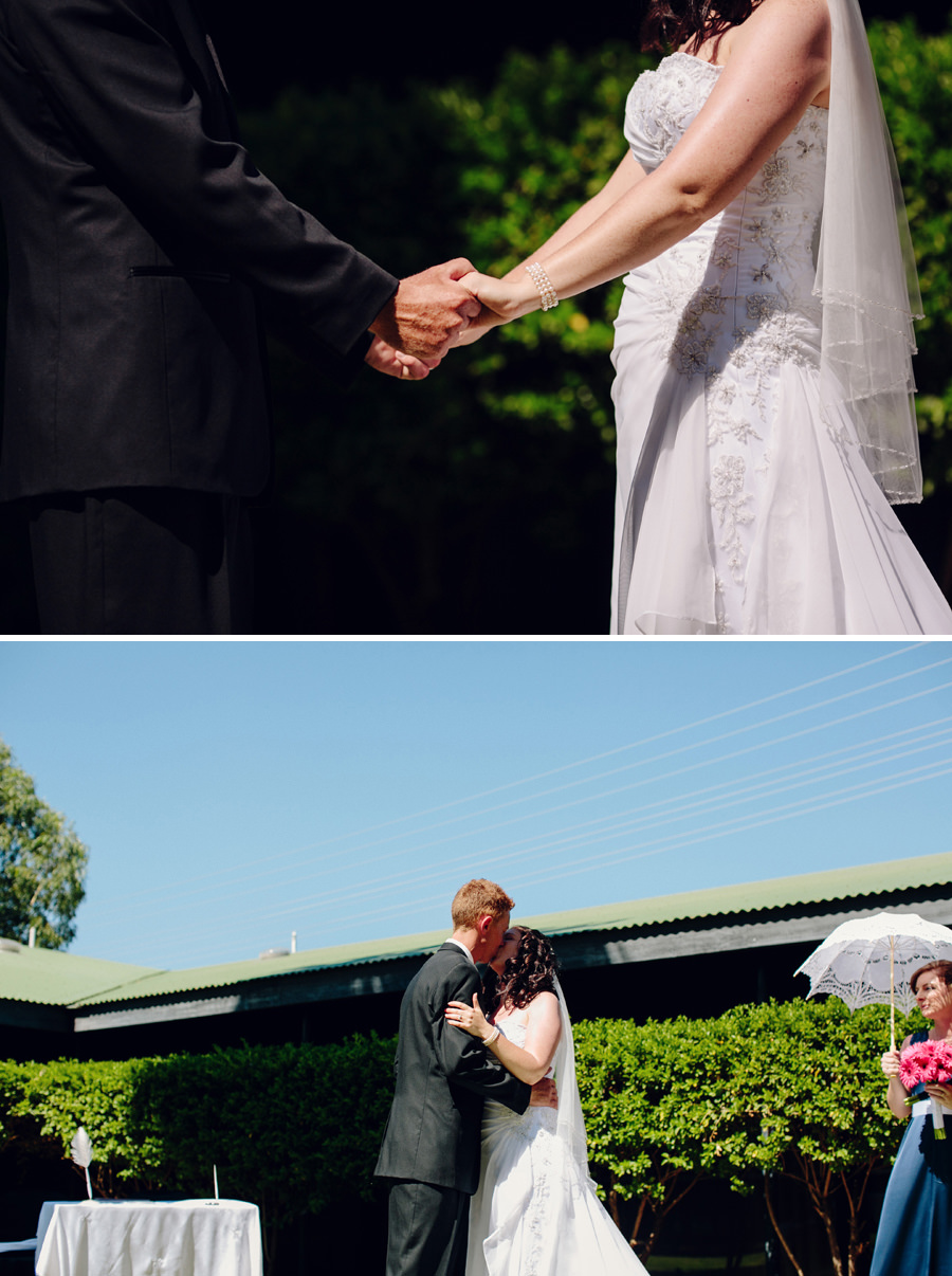 Alice Springs Northern Territory Wedding Photographers: Kiss the bride