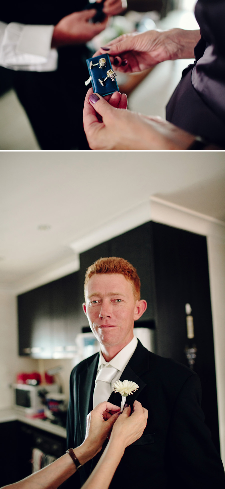 Alice Springs Wedding Photography: Groom getting ready