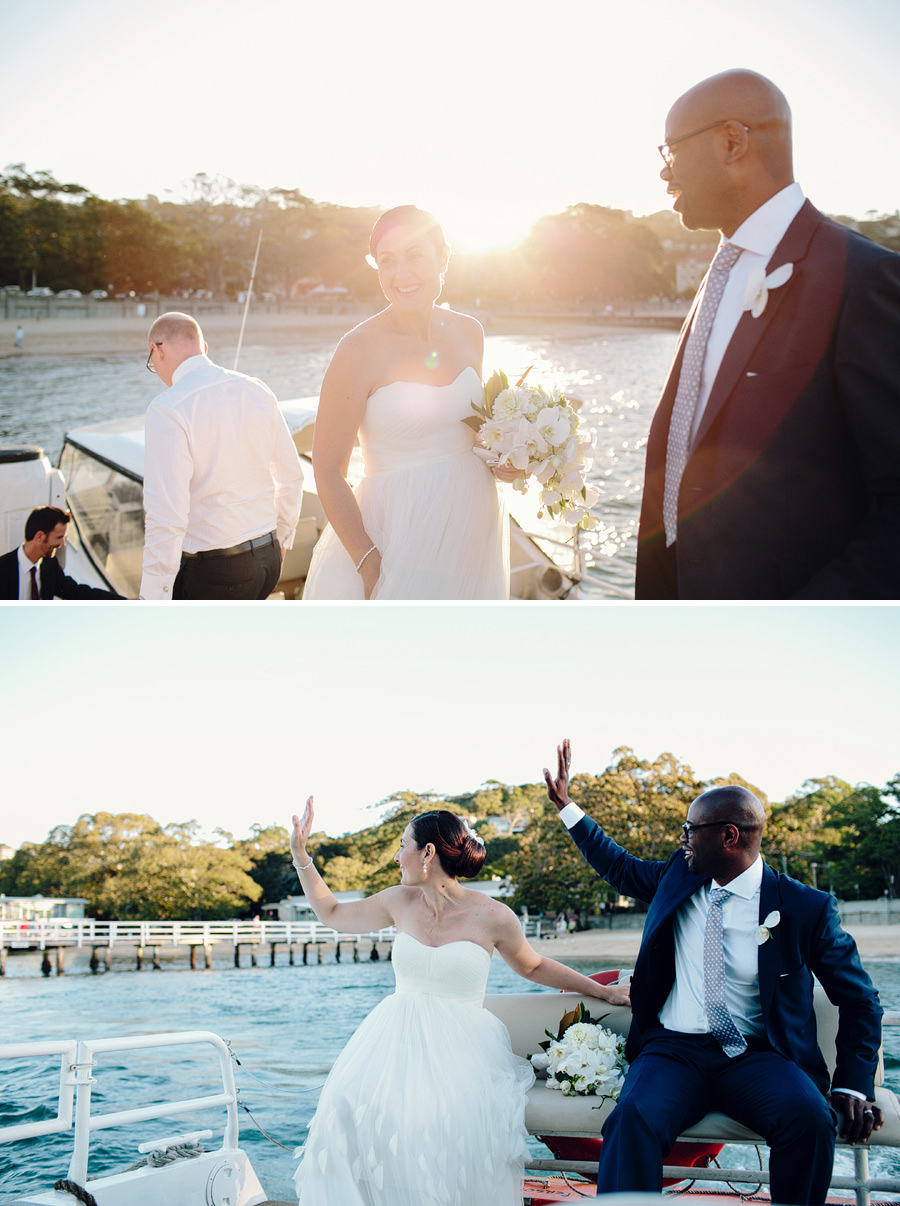 Balmoral Beach Wedding Photography: Water taxi exit