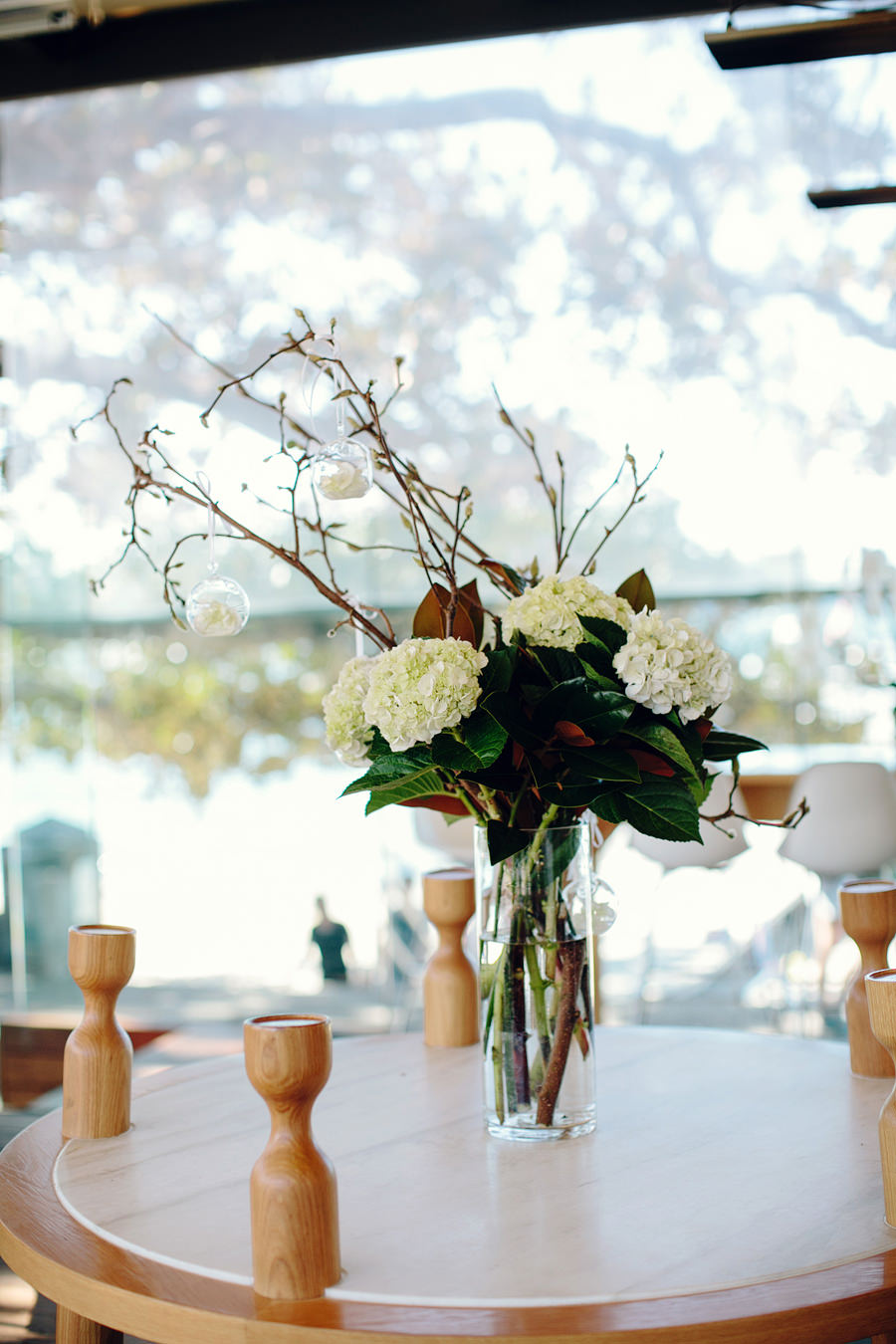 Balmoral Public Dining Room Wedding Photographer: Floral arrangements