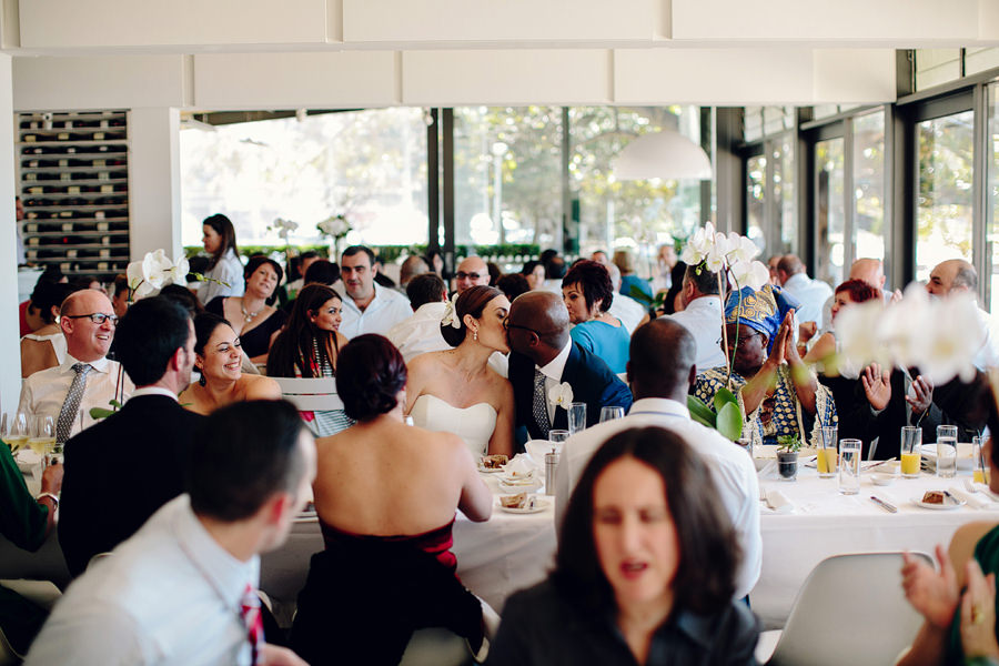 Balmoral Public Dining Room Wedding Photography: Kiss the bride