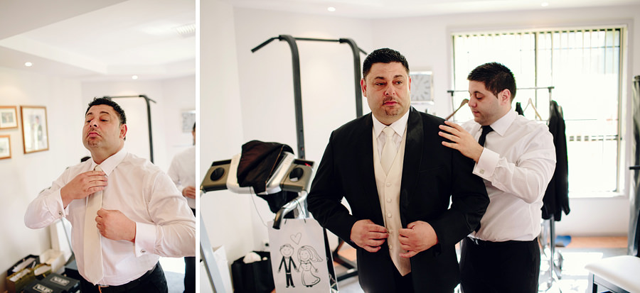 Canberra Wedding Photography: Groom getting ready