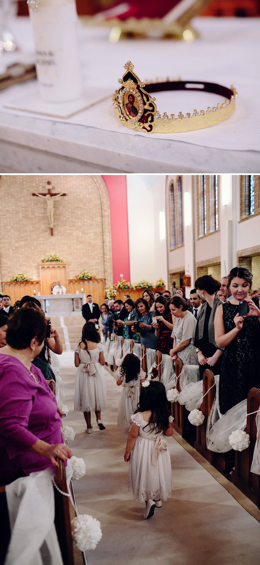 Catholic Wedding Photographers: Walking down the aisle