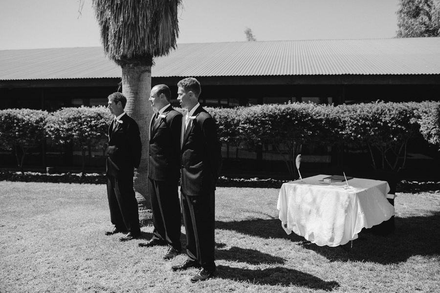 Chifley Alice Springs Wedding Photographer: Groom waiting for bride