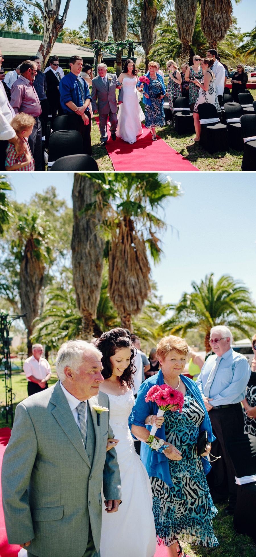 Chifley Alice Springs Wedding Photographers: Walking down the aisle