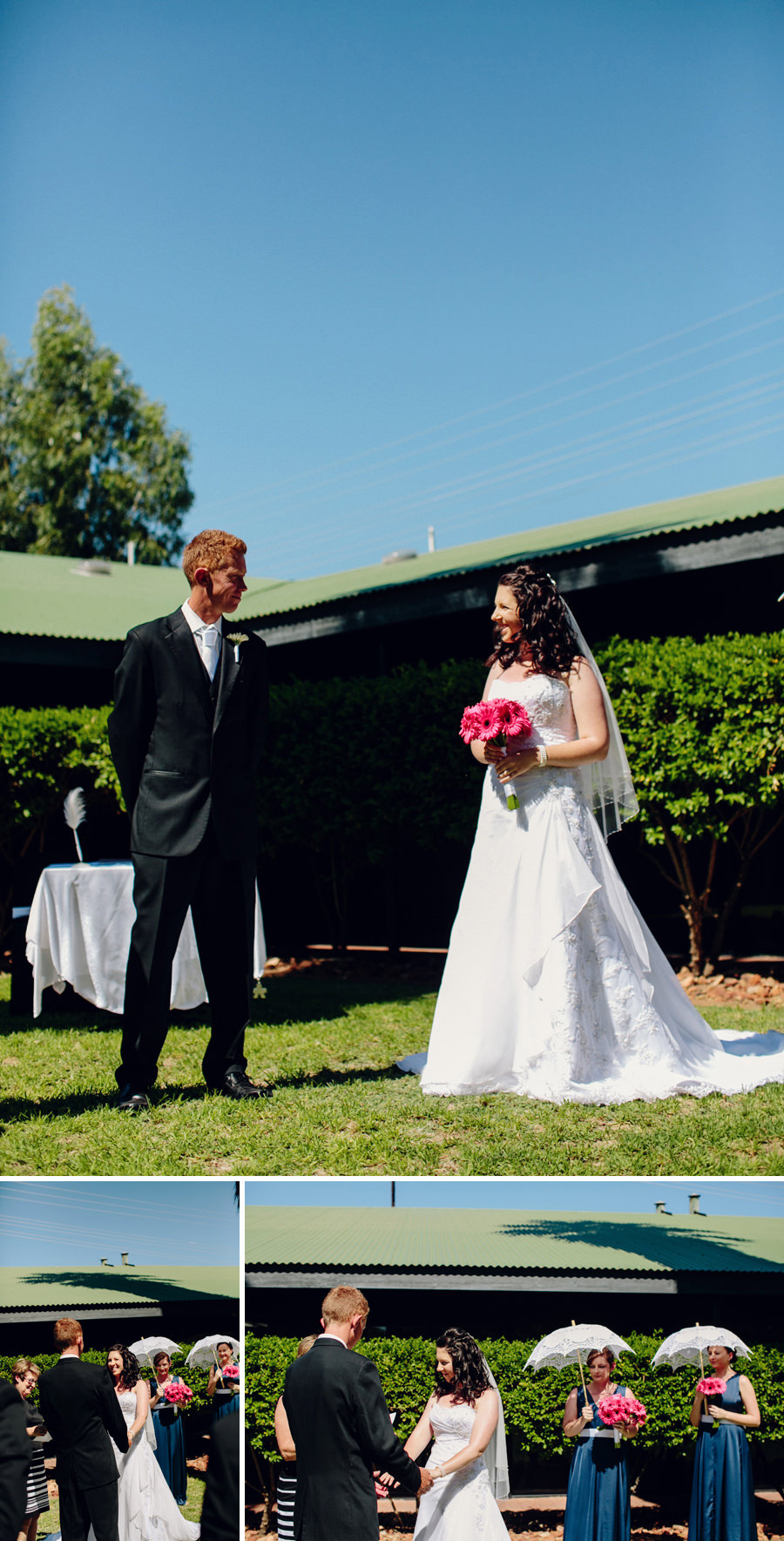 Chifley Alice Springs Wedding Photography: Karen & James during ceremony