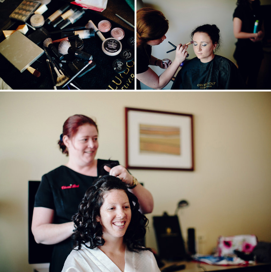 Chifley Resort Wedding Photographers: Hair & makeup