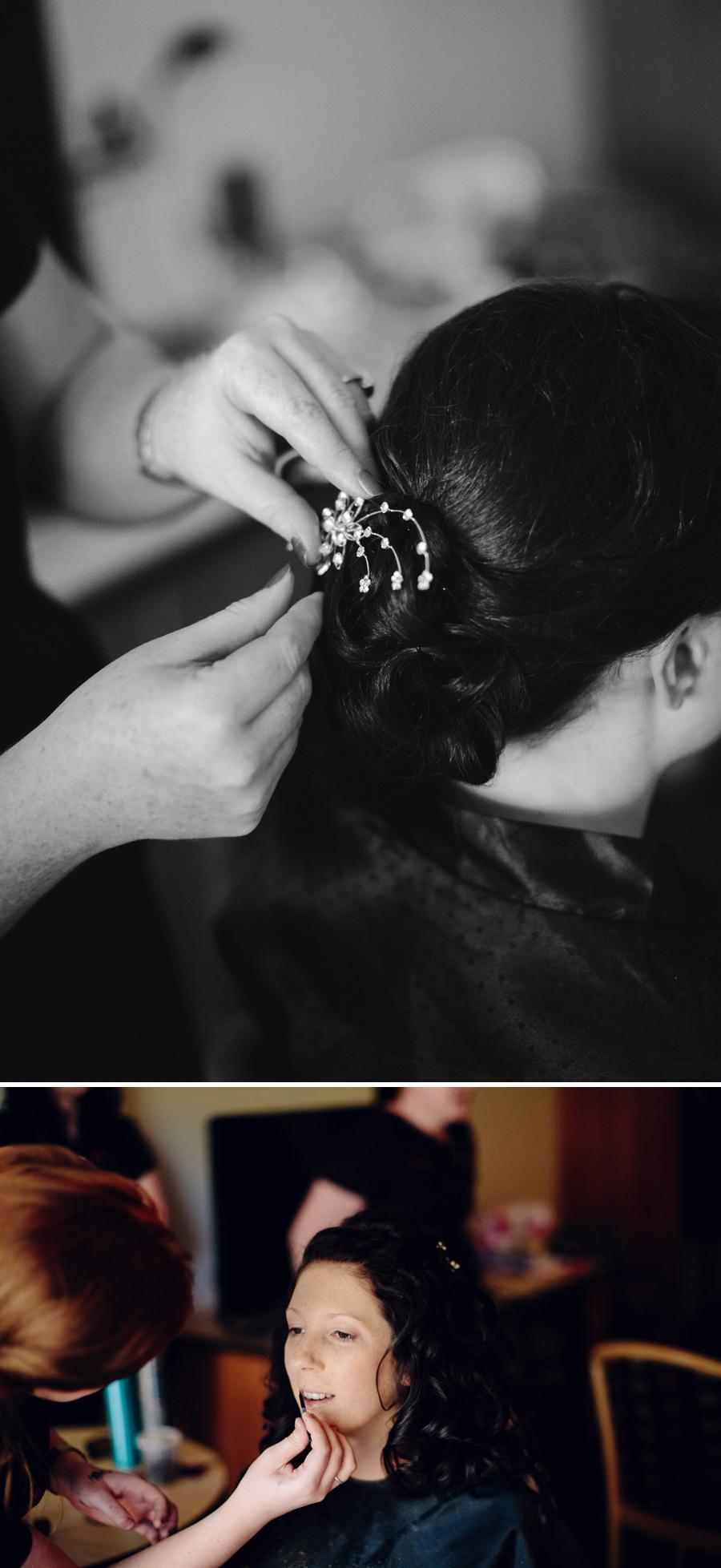 Chifley Resort Wedding Photography: Bride getting ready