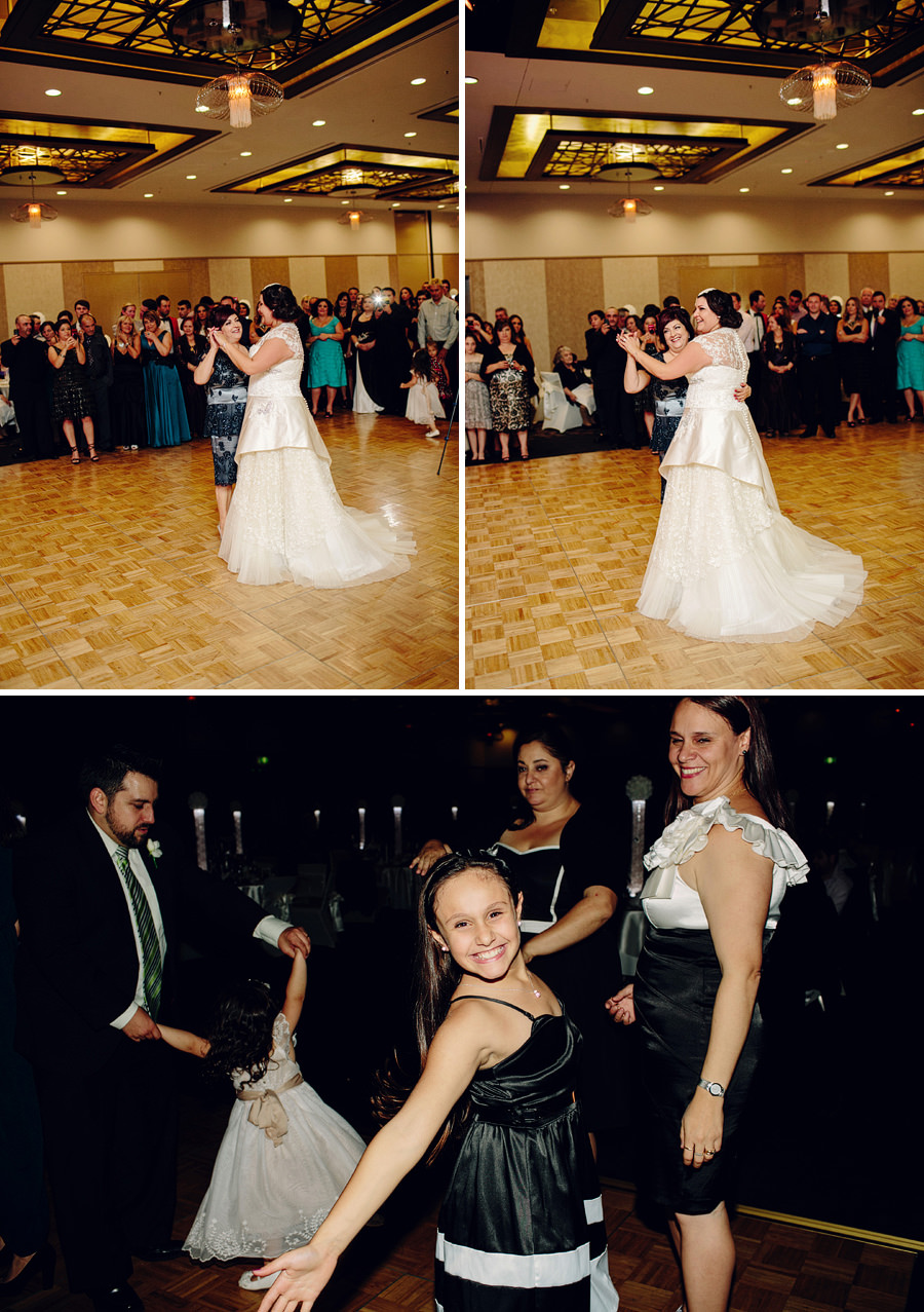 Contemporary Wedding Photographer: Bride dancing with mother