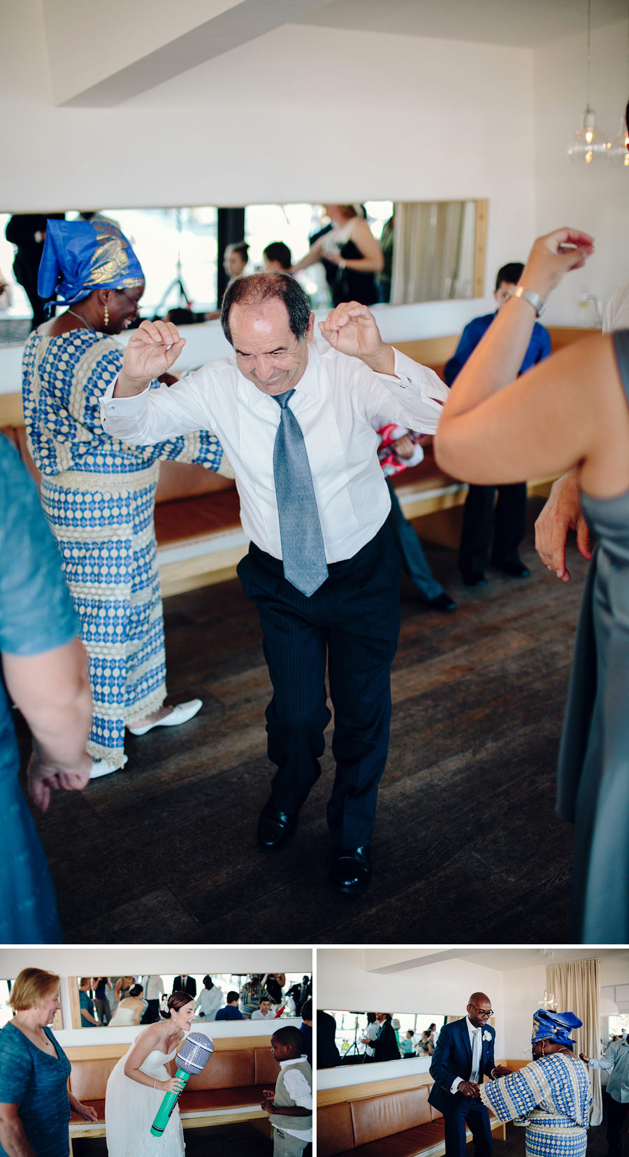 Contemporary Wedding Photographers: Reception dancing