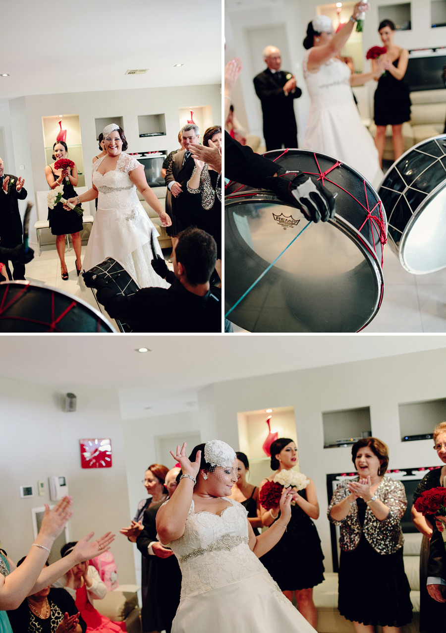Documentary Wedding Photography: Lebanese wedding drummers