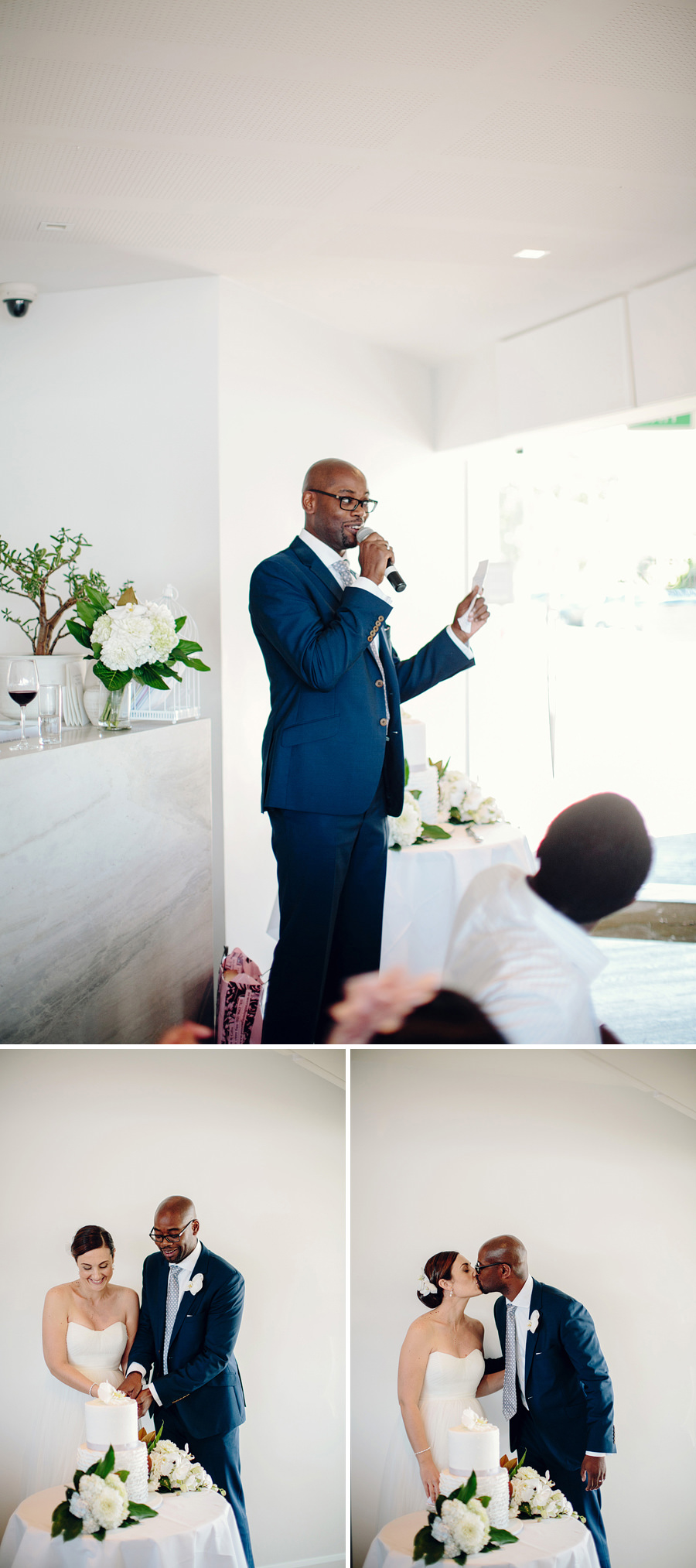 Elegant Wedding Photographer: Groom speech