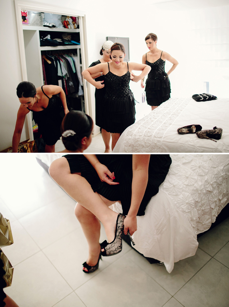 Italian Wedding Photographer: Bridesmaids getting ready