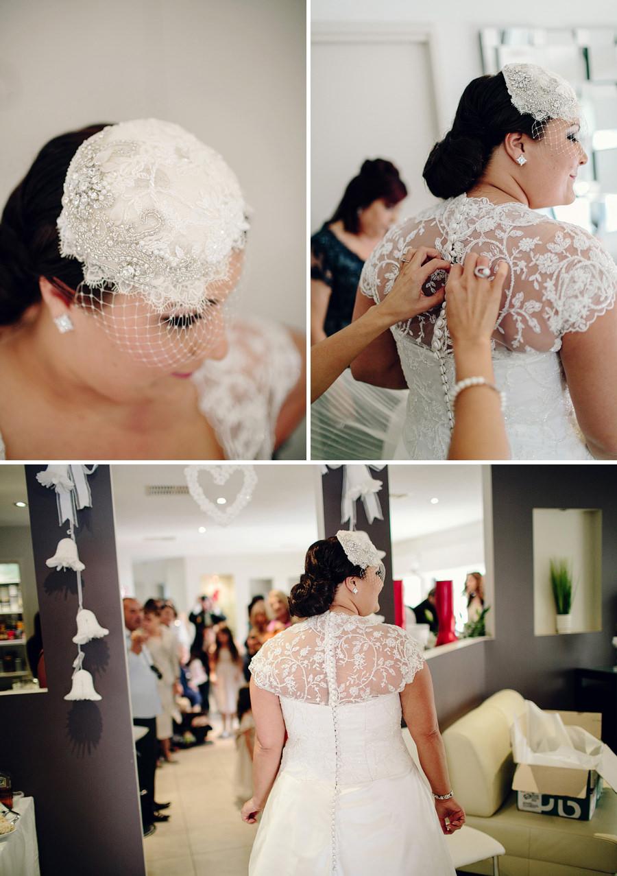 Italian Wedding Photography: Bride getting dressed