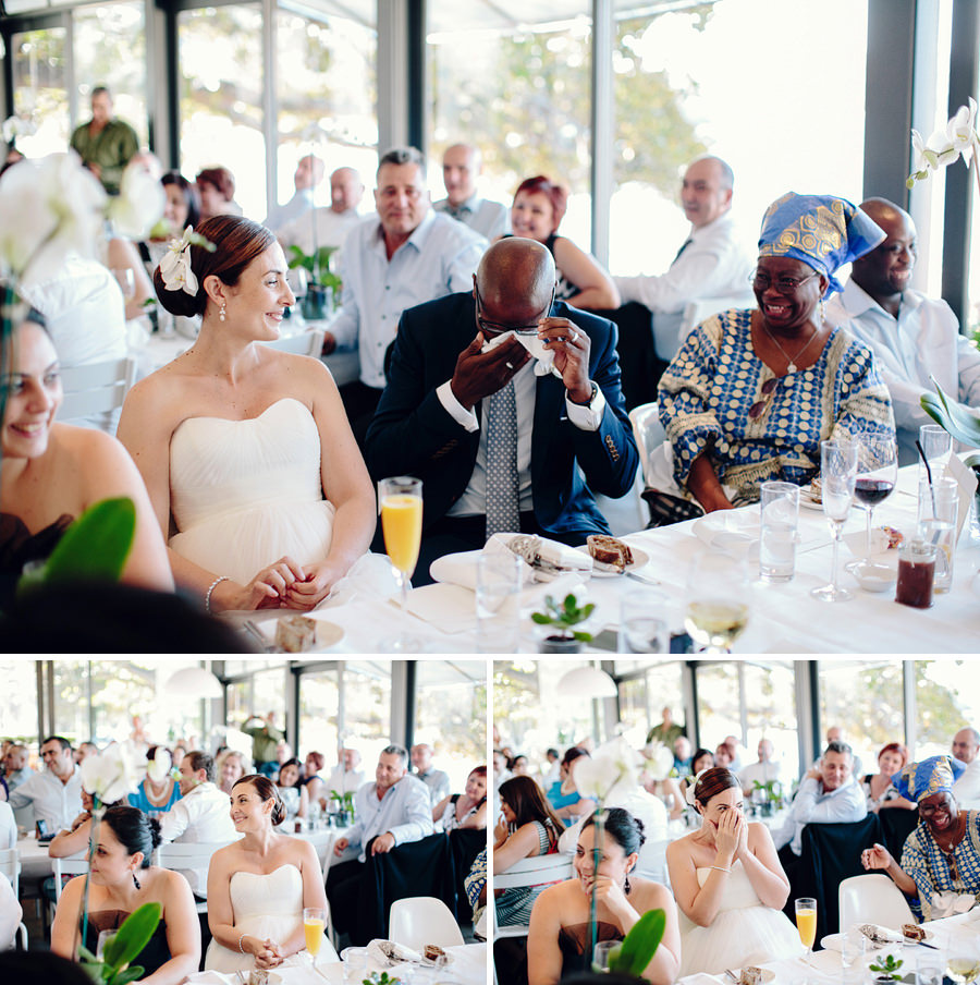 Lunchtime Wedding Photographer: Speech reactions
