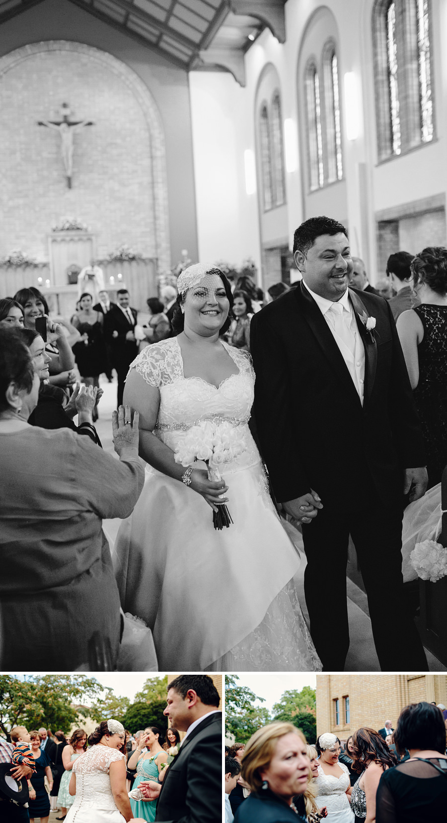 Melkite Catholic Wedding Photography: Walking down the aisle