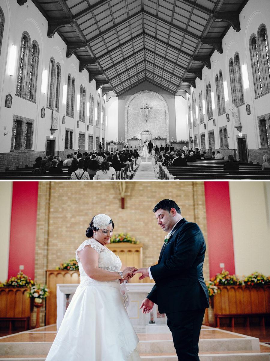 Melkite Wedding Photographer: Bride & Groom during ceremony
