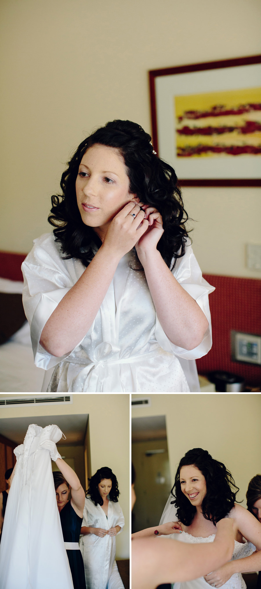Northern Territory Wedding Photography: Bride getting dressed