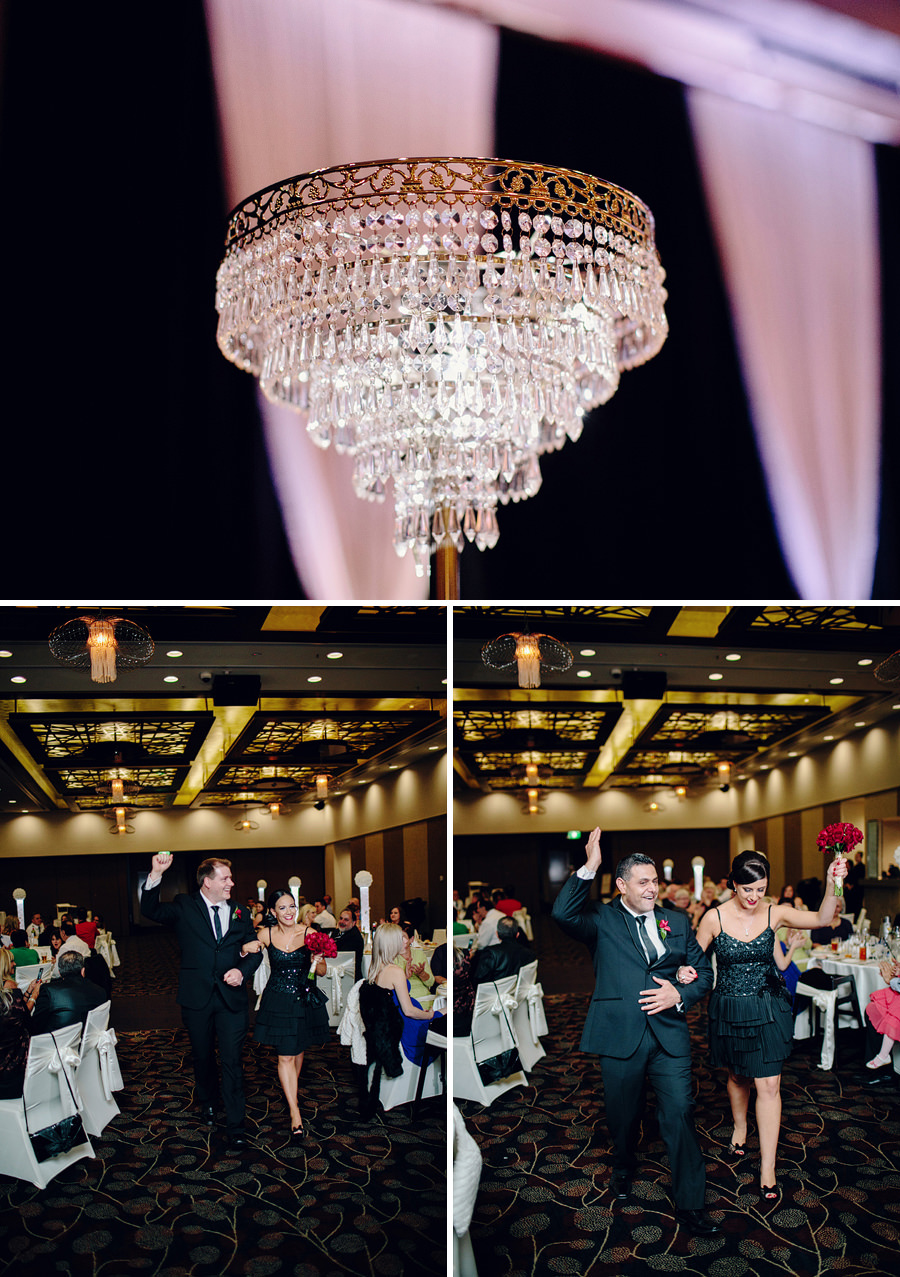 Southern Cross Club Canberra Wedding Photography: Entering reception