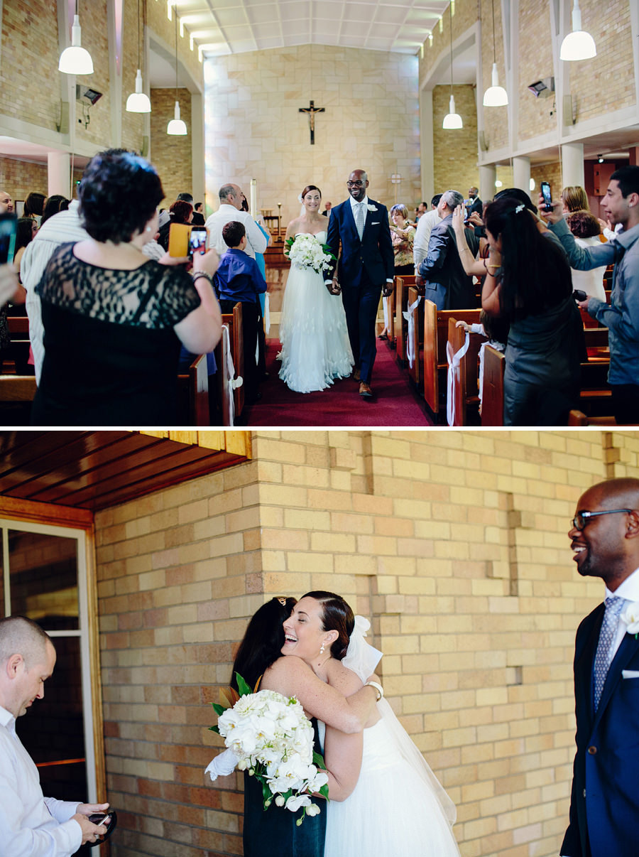 Sydney Catholic Wedding Photography: Walking down the aisle