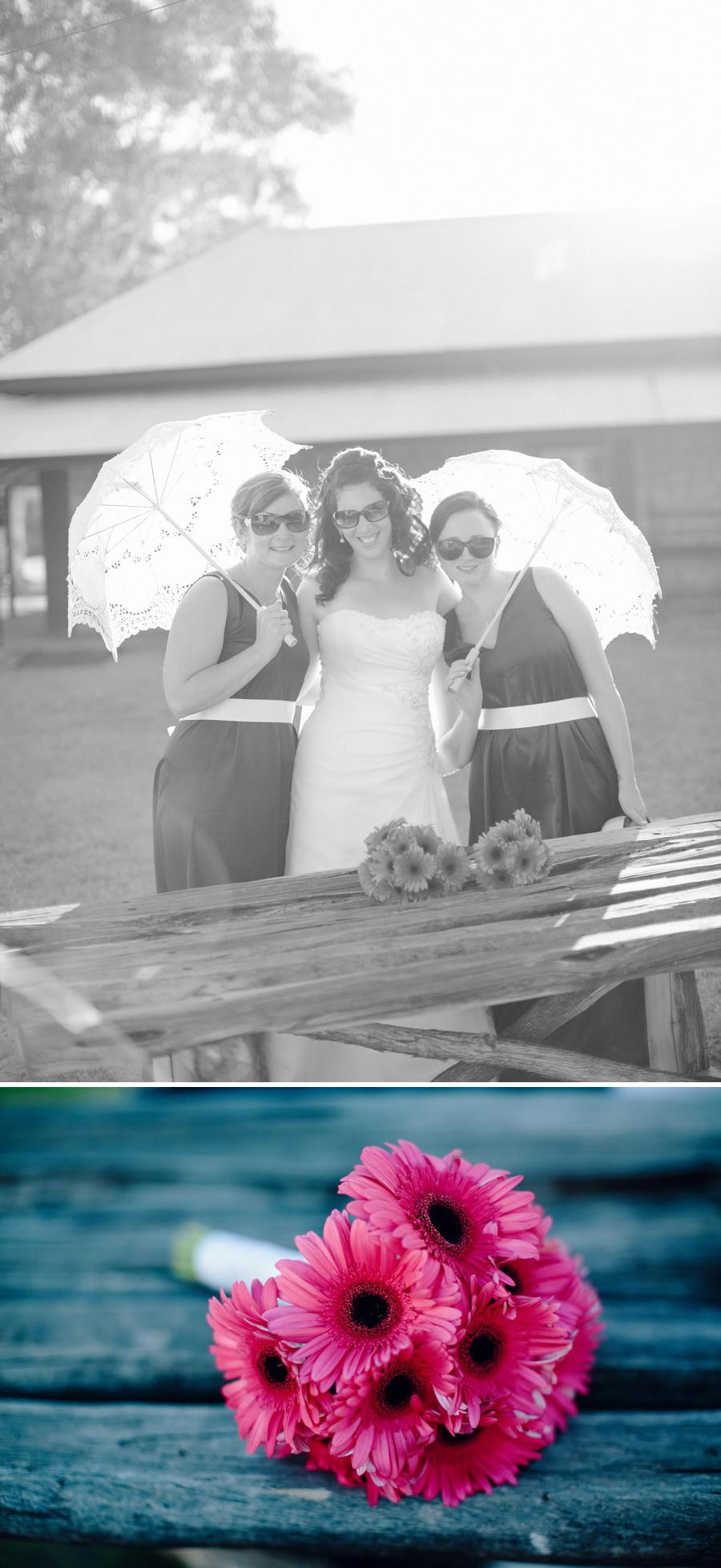 Telegraph Station Wedding Photographer: Bride & bridesmaids