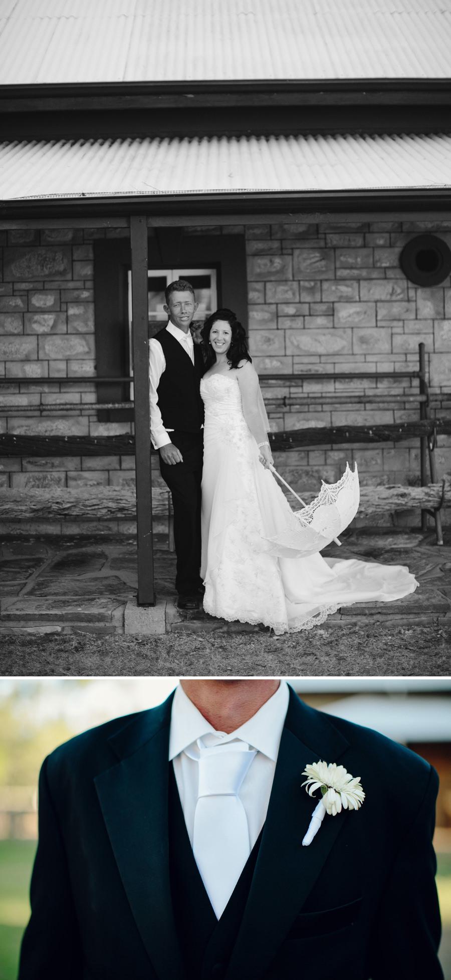 Telegraph Station Wedding Photographers: Bride & groom