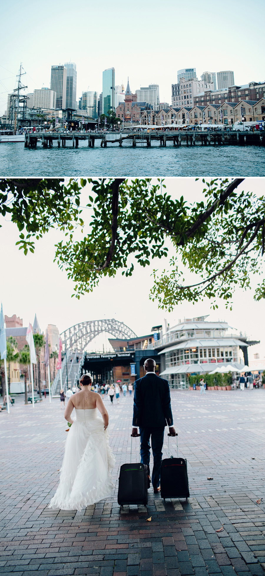 The Rocks Wedding Photographers: Circular quay portraits
