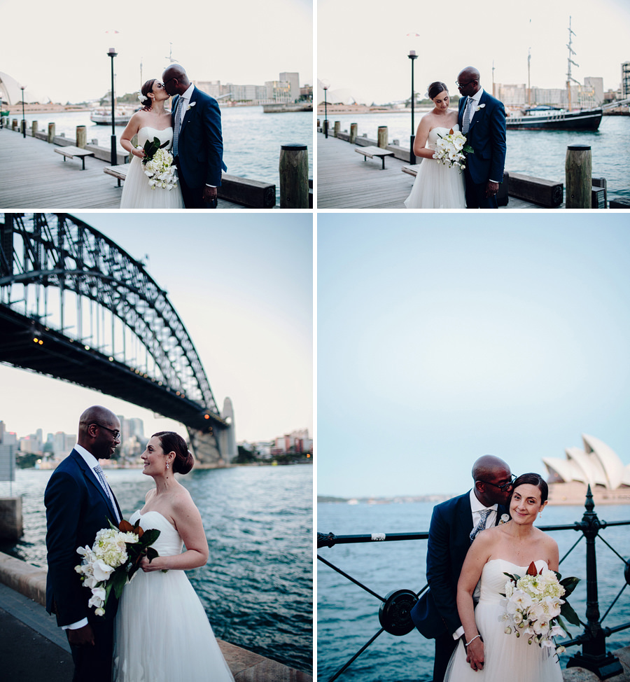 The Rocks Wedding Photography: Harbour portraits