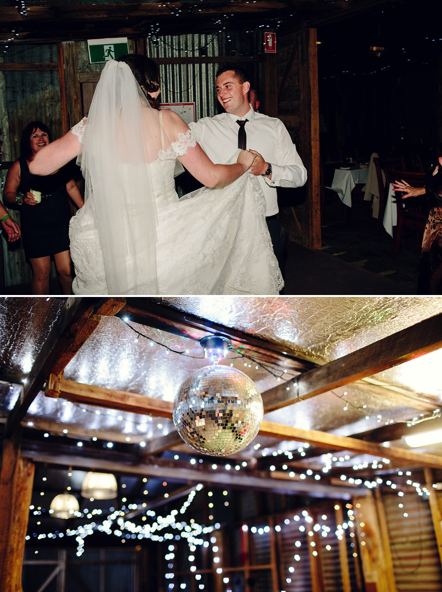 ACT Wedding Photography: Disco ball