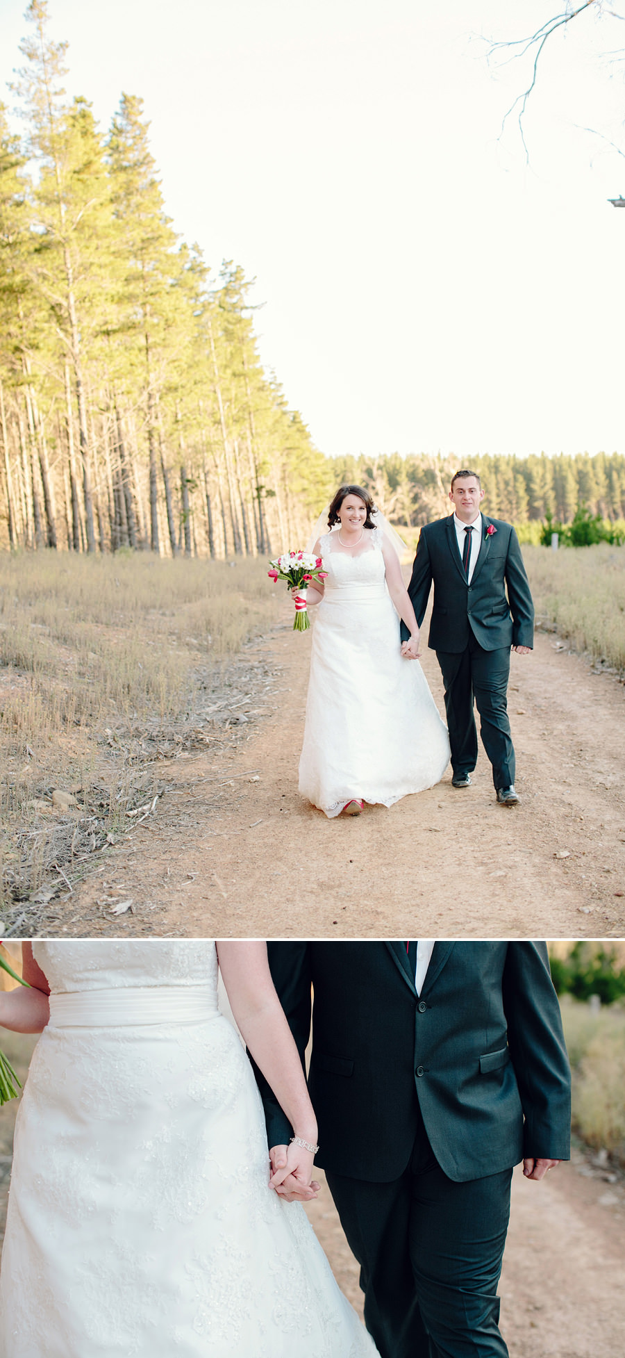 Kowen Pine Forest Wedding Photography: Bride & Groom