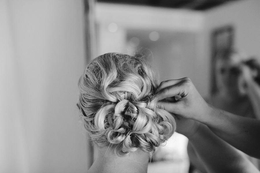 Sigatoka Wedding Photography: Bride's hair