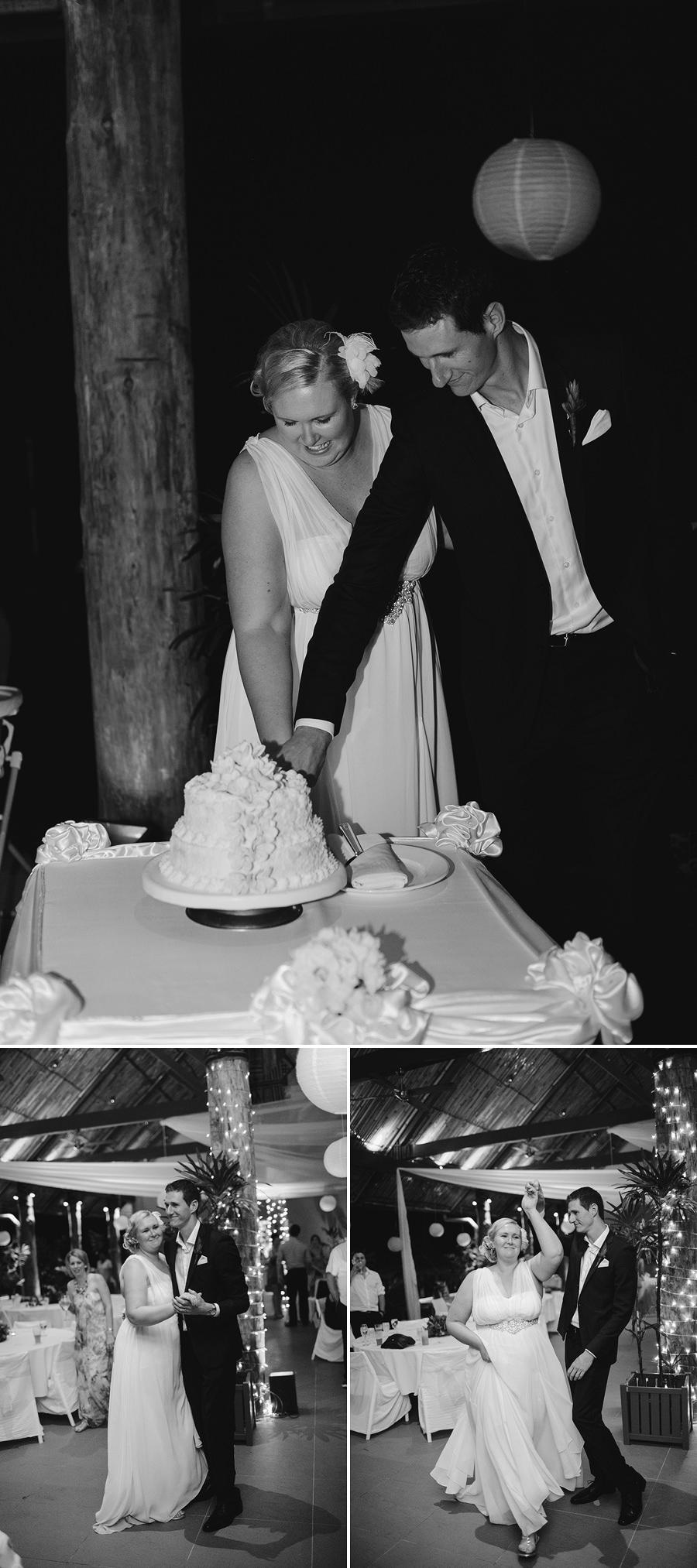 Viti Levu Wedding Photography: Cutting cake