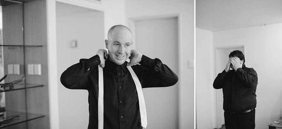 Alice Springs Wedding Photographers: Groom getting ready