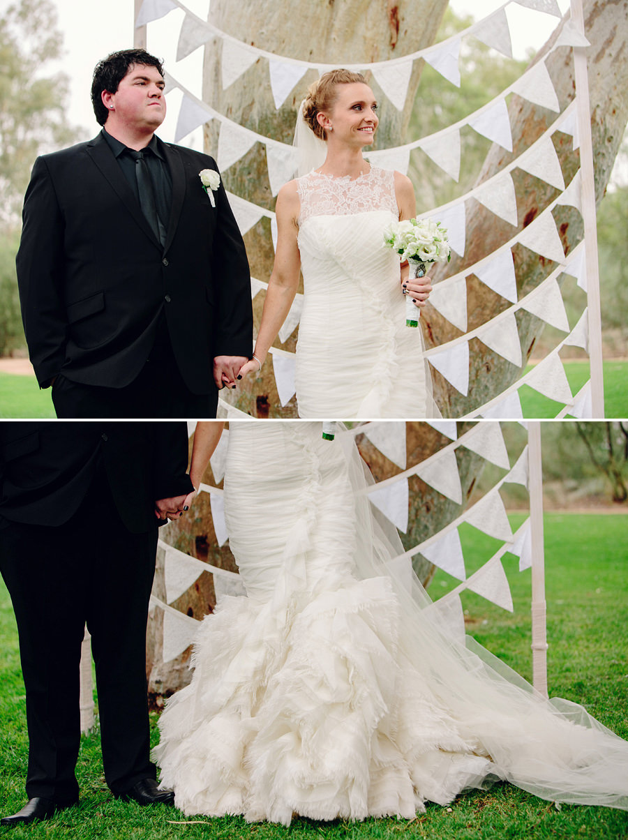 Araluen Cultrual Precinct Wedding Photographer: Bride & Groom