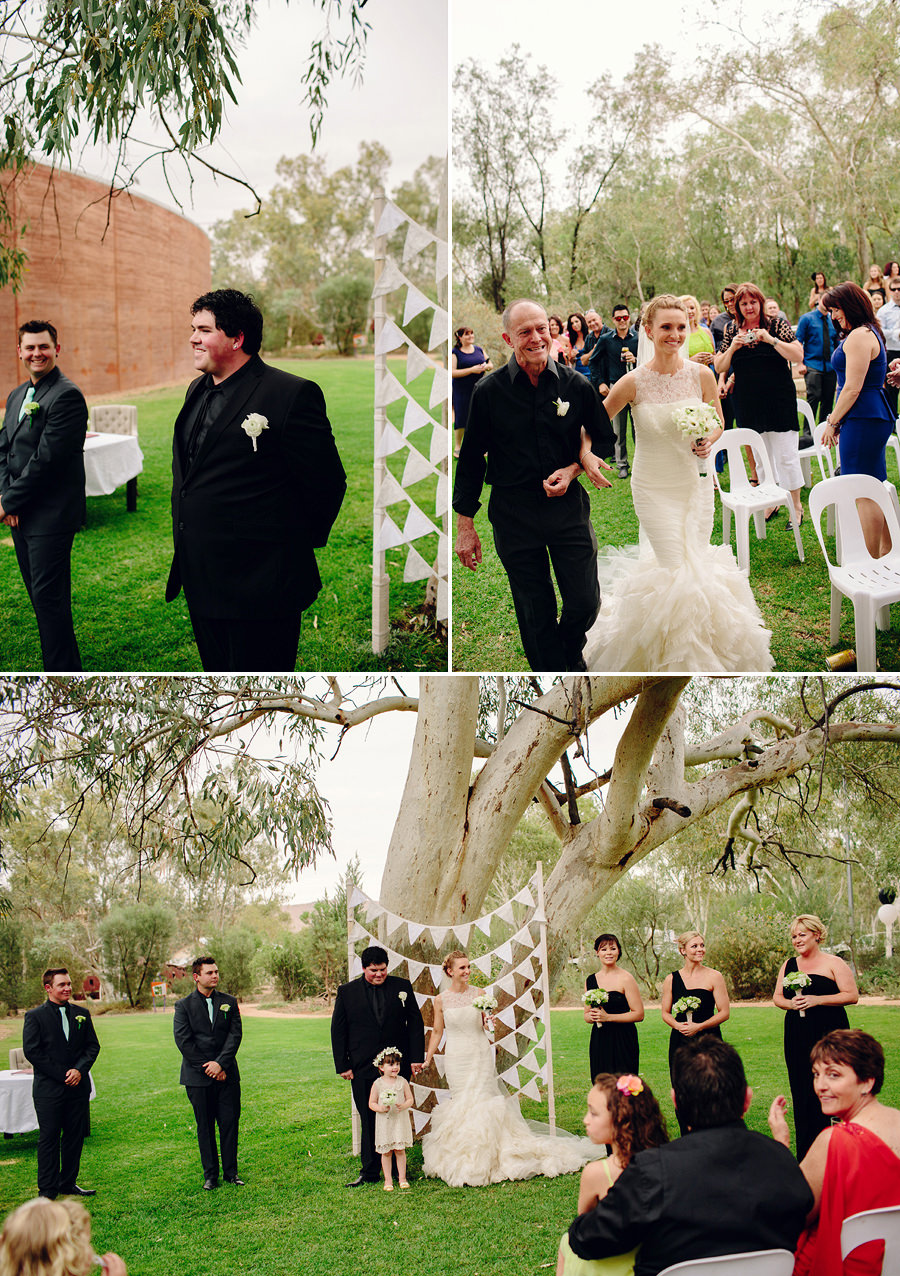 Araluen Wedding Photographers: Walking down the aisle