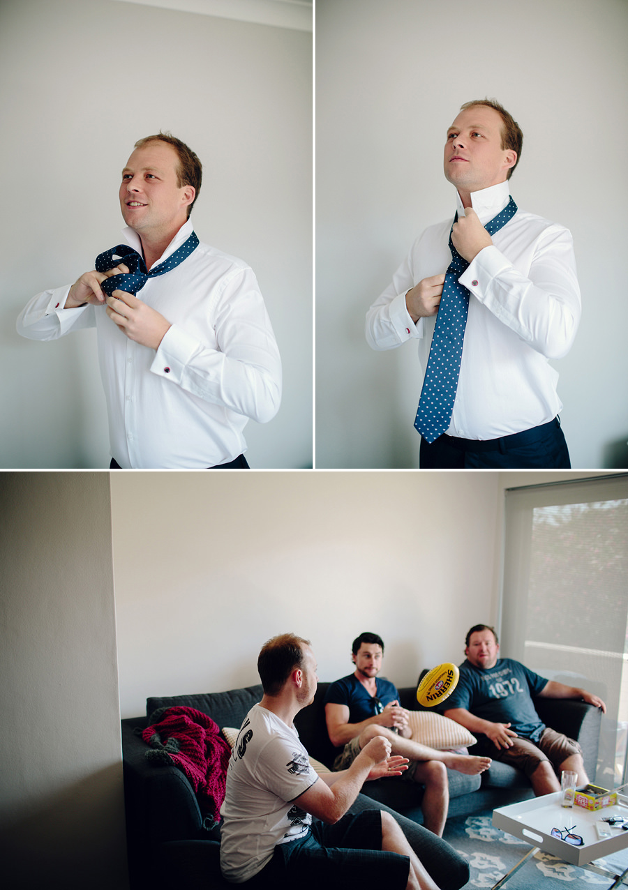 Freshwater Wedding Photography: Groom Getting Ready