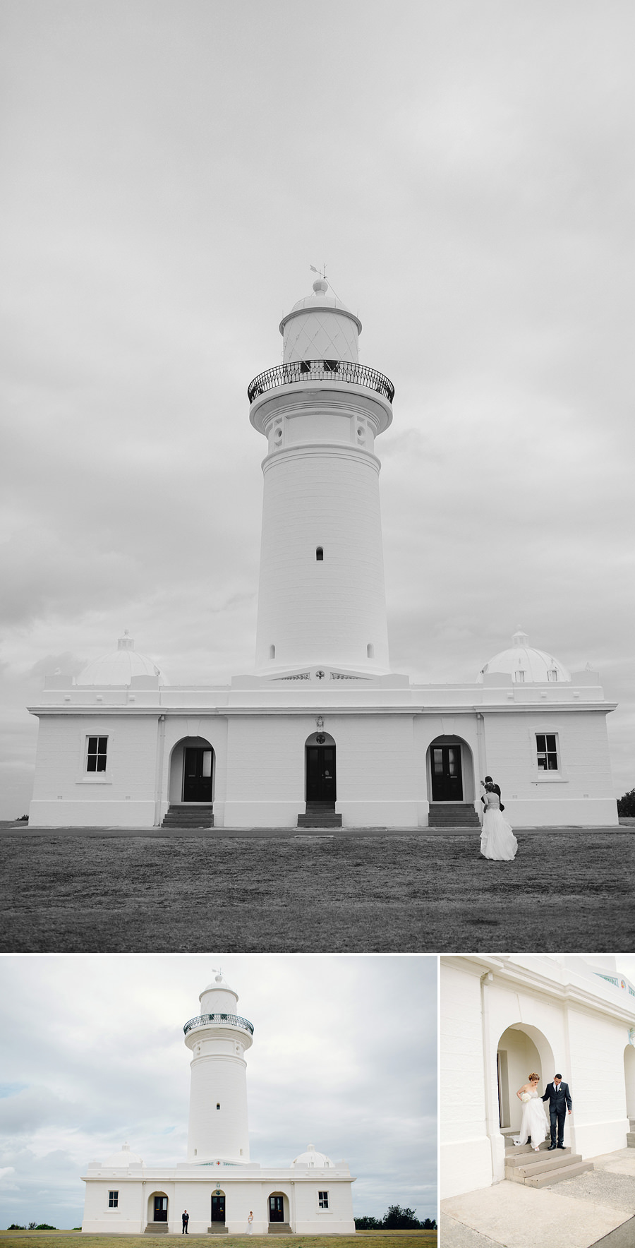 Macquarie Lighthouse Wedding Photographer: Bride & Groom Portraits