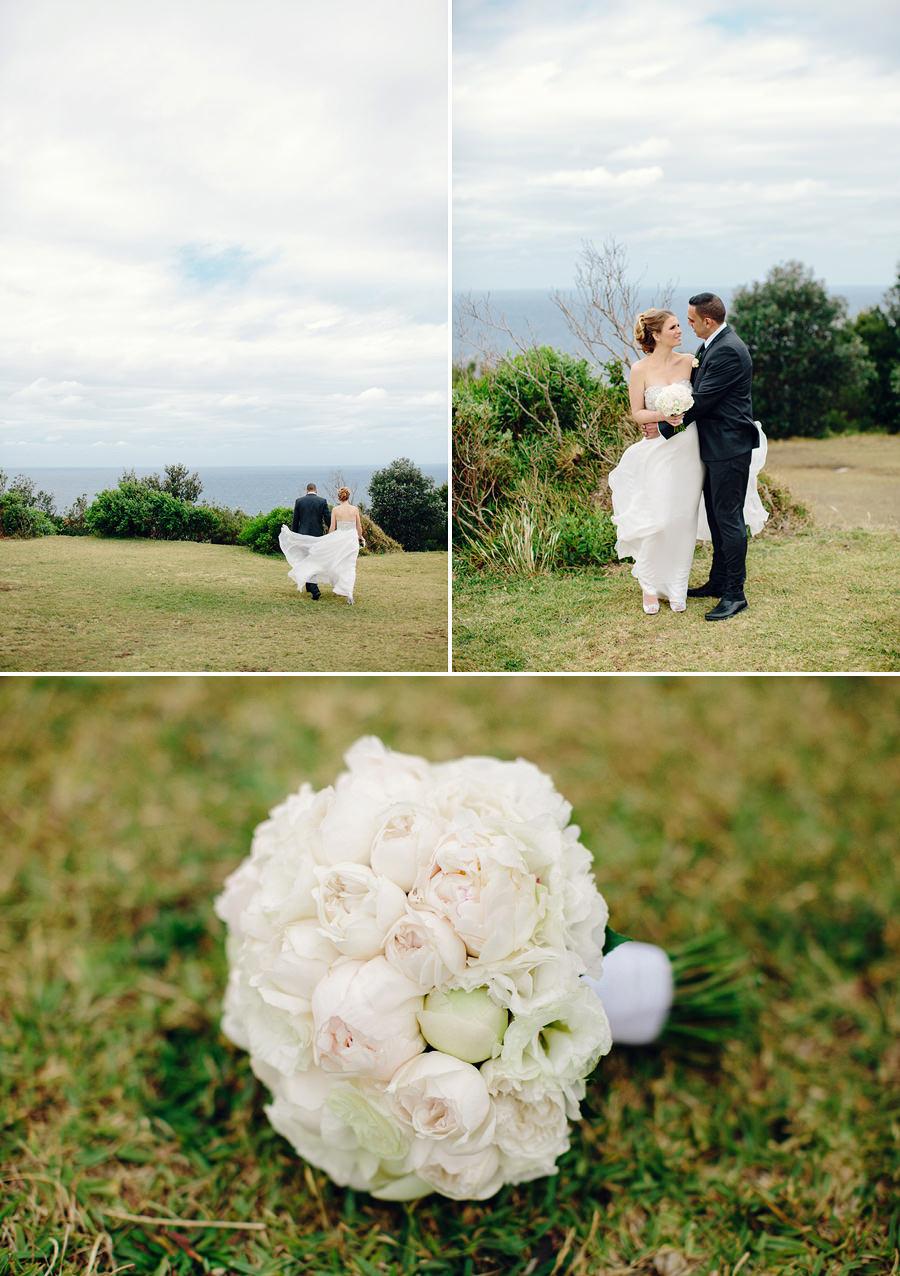 Macquarie Lighthouse Wedding Photography: Bride & Groom Portraits