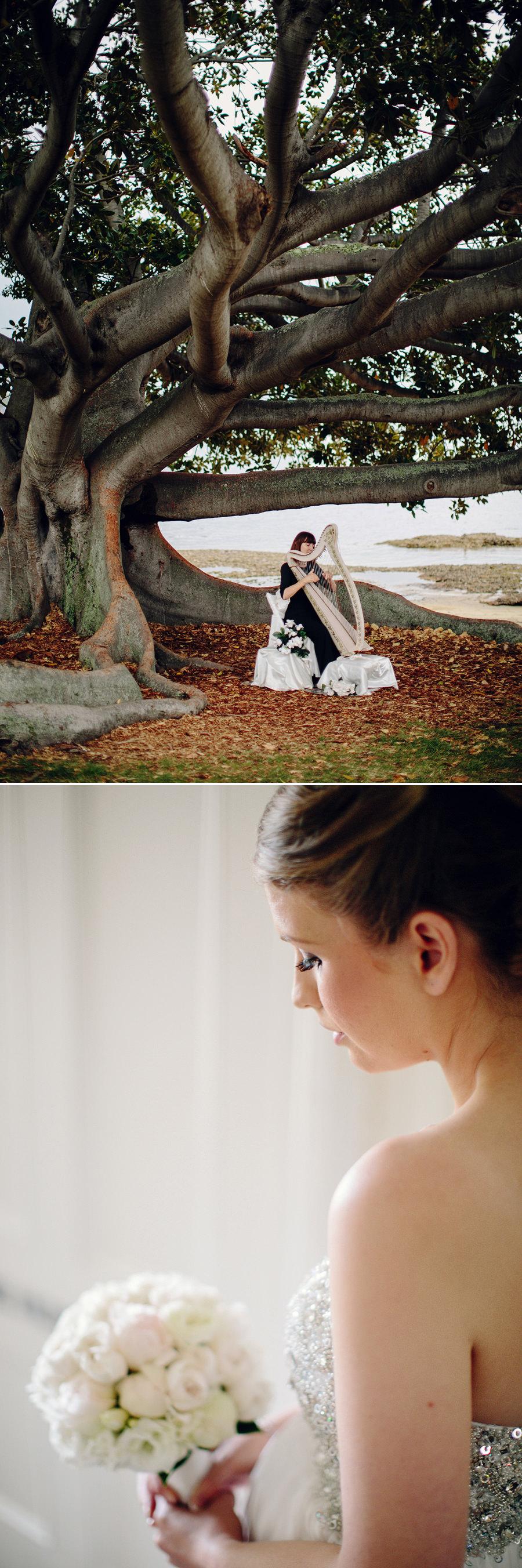 Watsons Bay Wedding Photographer: Harpist