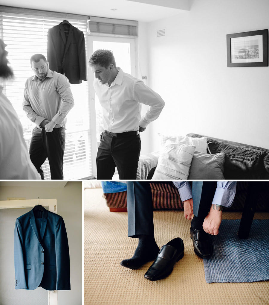 North Manly Wedding Photographers: Boys getting ready