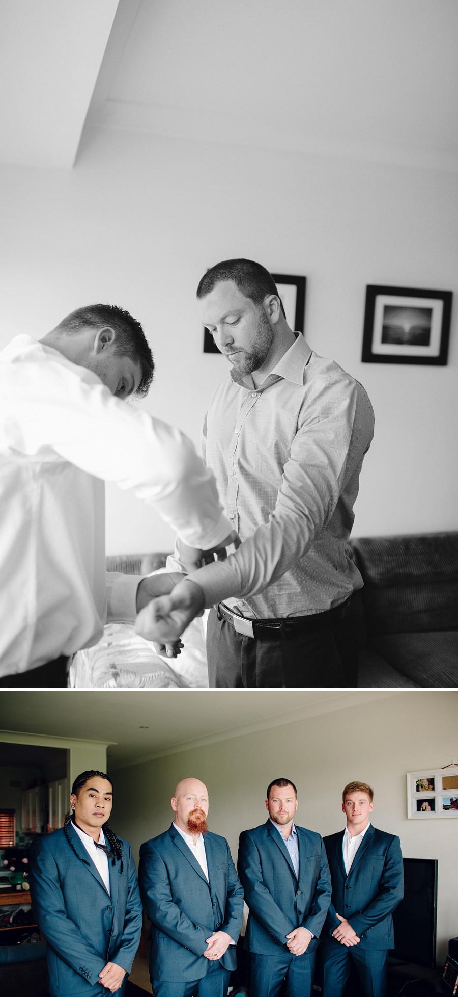North Manly Wedding Photography: Boys getting ready