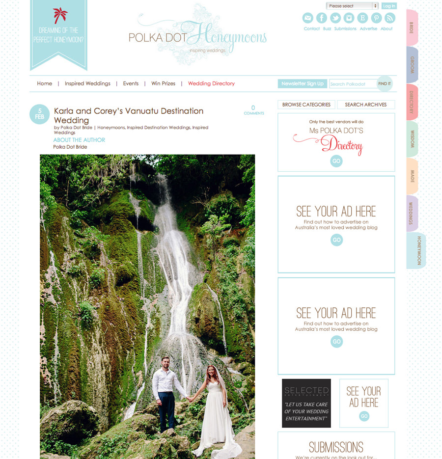 Polka Dot Honeymoons