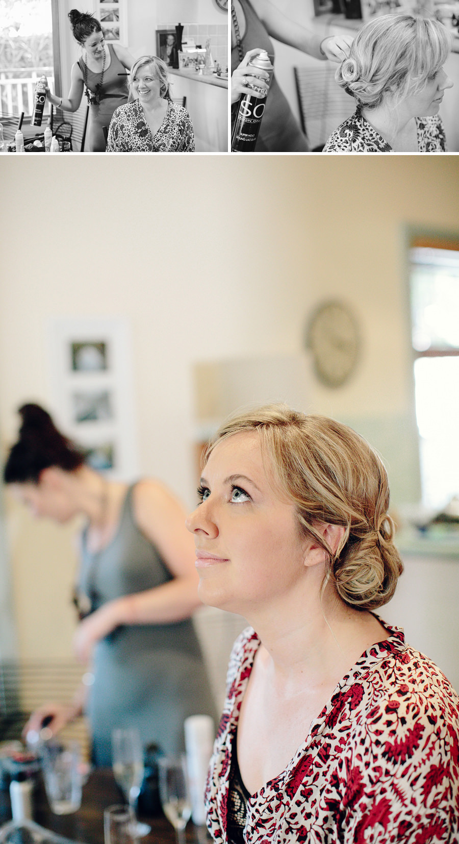 Roseville Wedding Photography: Bride getting ready