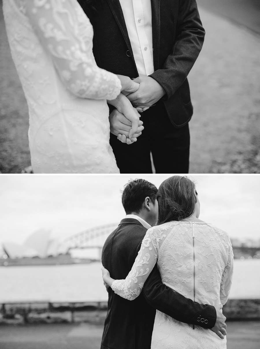 Mrs Macquarie's Chair Elopement Photography: Faye & Ming