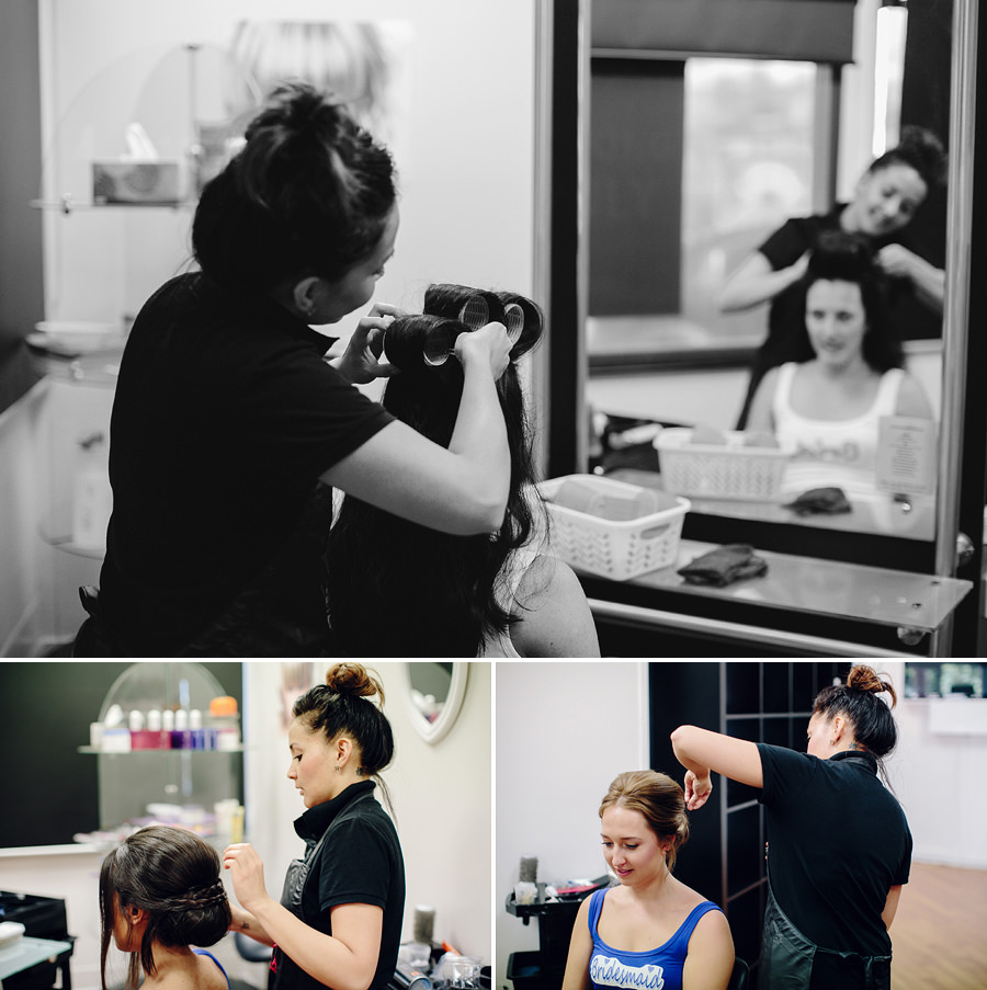 La Hair Lounge Wedding Photographer- Girls hair & makeup