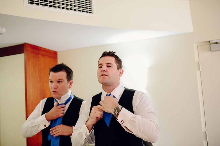 Alice Springs Casino Wedding Photographers - Boys getting ready