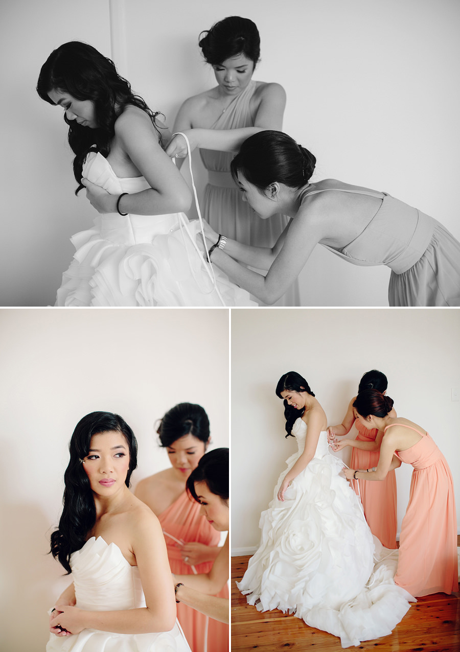 Fairfield Wedding Photographers: Girls getting ready