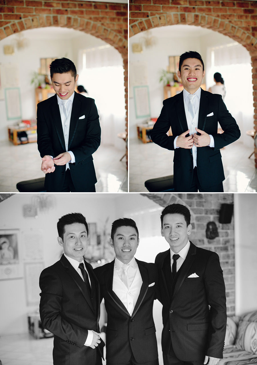 Chinese Wedding Photographers: Boys getting ready