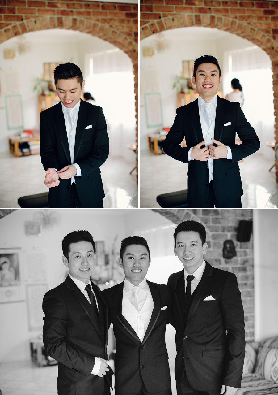 Chinese Wedding Photographers: Boys getting ready